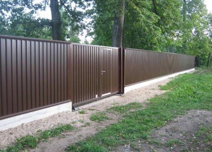 Забор из профнастила с фото