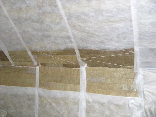 Базальтовая вата покрытая пароизоляционной мембраной