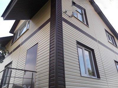 Сайдинг для облицовки фасада частного дома