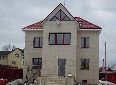 Керамогратин для отделки фасада частного дома
