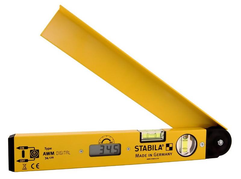 Электронный угломер, которым можно измерить угол наклона ската крыши