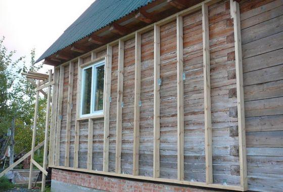 Деревянная обрешетка деревянного дома