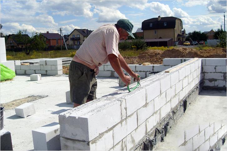 Строим дом из газобетона своими руками i