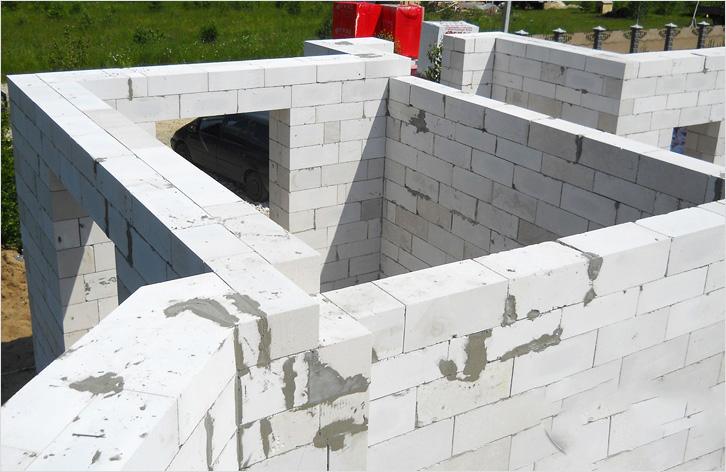 Возведение стен из газоблоков