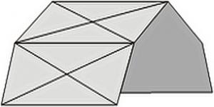 определить форму и размер крыши