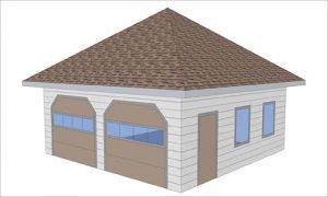 Пример шатровой крыши