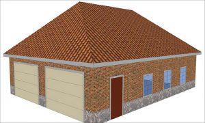 Пример дома с вальмовой крышей