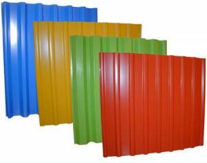 Профнастил С-20 - фото профлиста с цветным защитно-декоративным покрытием